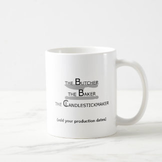 The Butcher The Baker The Candlestickmaker Coffee Mug