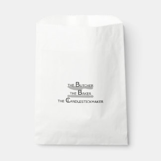 The Butcher The Baker The Candlestickmaker Favour Bag