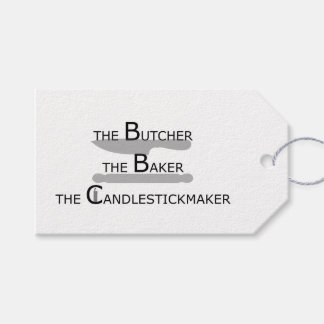 The Butcher The Baker The Candlestickmaker Gift Tags