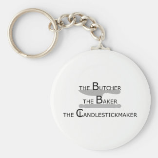 The Butcher The Baker The Candlestickmaker Keychain