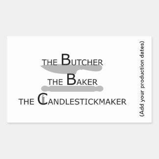 The Butcher The Baker The Candlestickmaker Sticker
