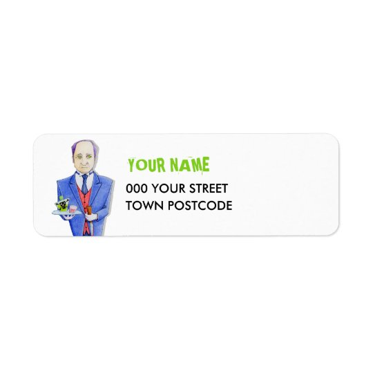 The Butler Return Address Label