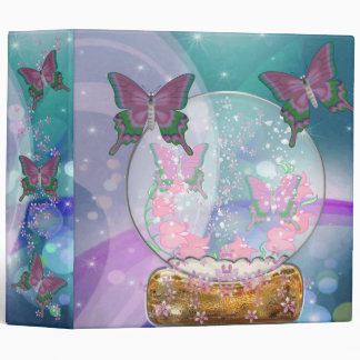 The Butterfly Globe Vinyl Binders