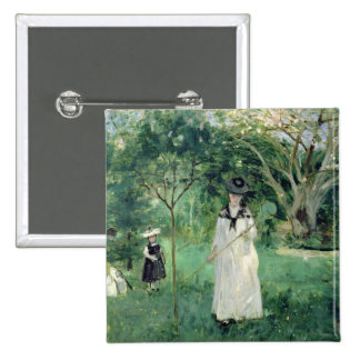 The Butterfly Hunt, 1874 2 Inch Square Button