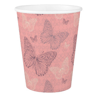 The Butterfly Pink Paper Cup