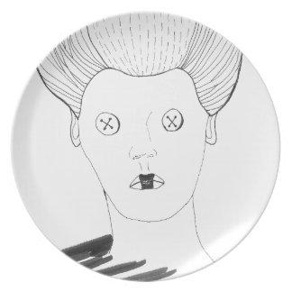 The Button Queen Dinner Plate
