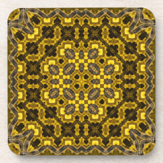 The Buzz Kaleidoscope Pattern Drink Coaster