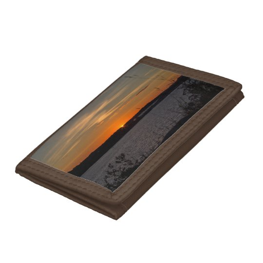 The buzzer sunset tri-fold wallet