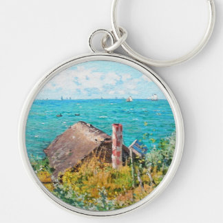 The Cabin At Saint-Adresse Silver-Colored Round Keychain