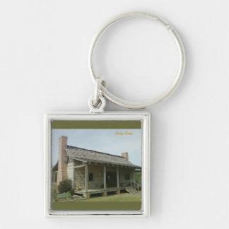 The Cabin Silver-Colored Square Keychain