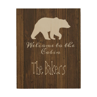 the cabin wood canvases
