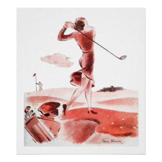The Caddie's Tip - Vintage Golf Watercolour Print