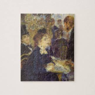 The Cafe by Pierre Renoir, Vintage Impressionism Jigsaw Puzzle