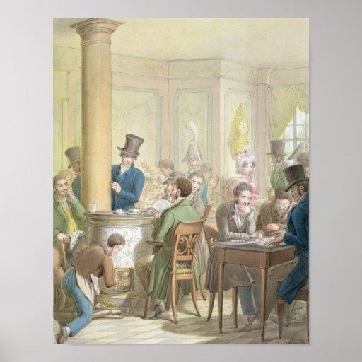 The Cafe de Commerce, from 'Tableau de Paris' Print