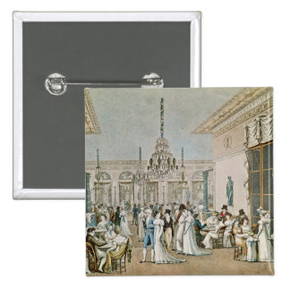The Cafe Frascati in 1807 2 Inch Square Button