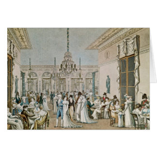 The Cafe Frascati in 1807 Card