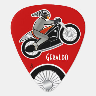 The Cafe Racer on Red (Personalized) Pick