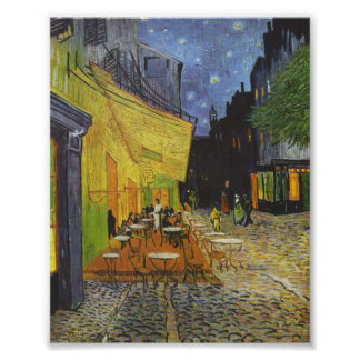 The Cafe Terrace at Night by Van Gogh Poster
