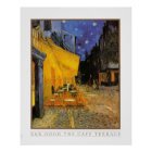 The Cafe Terrace at Night by Vincent Van Gogh 1888 Poster