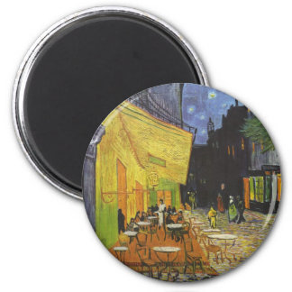 The Cafe Terrace on the place Du forum, arles 2 Inch Round Magnet