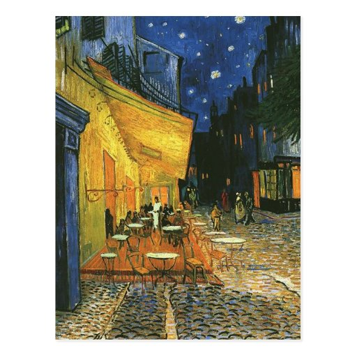 the cafe terrace on the place du forum... post card