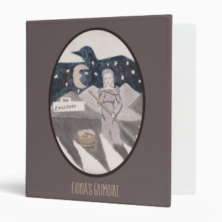 The Cailleach Witch Pagan Wiccan Choose BG Color Binder
