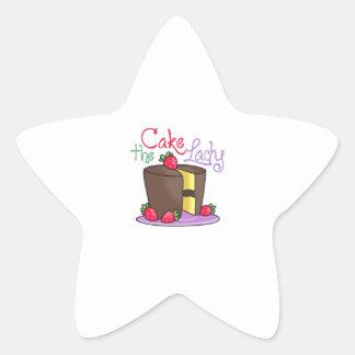 THE CAKE LADY STAR STICKER