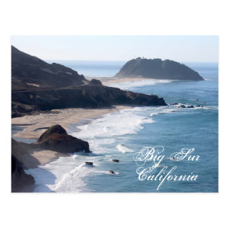 The California coastline at Big Sur Postcard