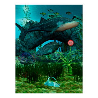 The Call Aquatic Life Digital Fantasy Poster