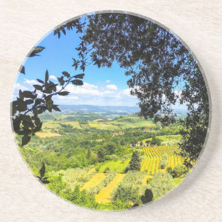 The Calm in Tuscany Photo Print Coaster