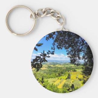 The Calm in Tuscany Photo Print Keychain