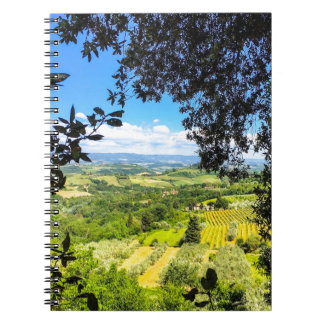 The Calm in Tuscany Photo Print Spiral Notebook