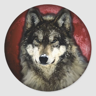 The Calm Wolf Classic Round Sticker