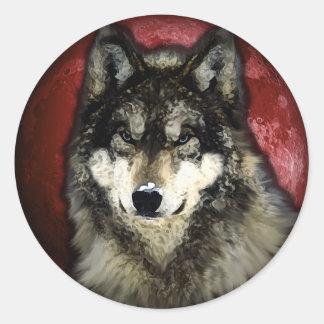 The Calm Wolf Round Sticker