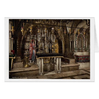 The Calvary and the Greek altar, Jerusalem, Holy L Card