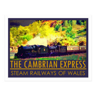 The Cambrian Express classic postcard