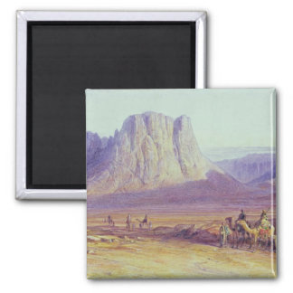 The Camel Train, Condessi, Mount Sinai, 1848 Square Magnet