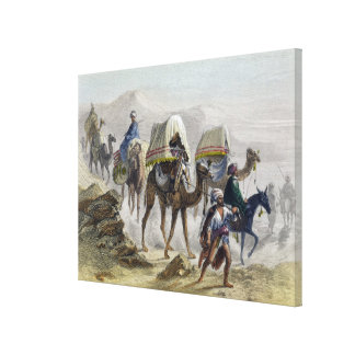 The Camel Train, from 'Constantinople and the Blac Canvas Print