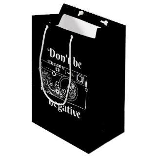 The camera (negative) medium gift bag