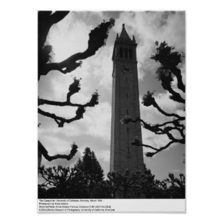 The Campanile, UC Berkeley, 1965 Poster
