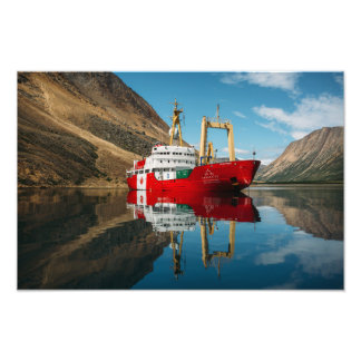 The Canada C3 Ship in the Torngat Mountains Photo Print