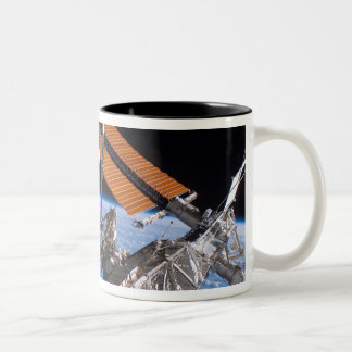 The Canadarm2 and solar array panel wings Two-Tone Coffee Mug