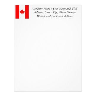 The Canadian Flag, Canada Letterhead Design