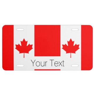 The Canadian Flag, Canada License Plate
