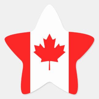 The Canadian Flag - Canada Souvenir Star Sticker