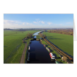 """The Canal From Above"" Blank Greetings Card"