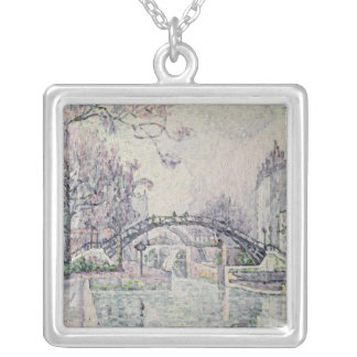 The Canal Saint-Martin, 1933 Silver Plated Necklace