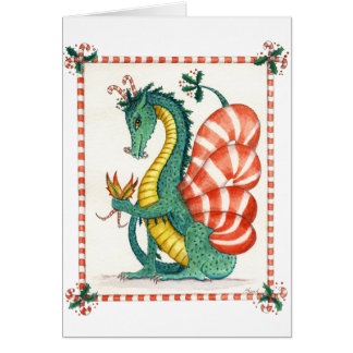 The Candy Cane Dragon Card