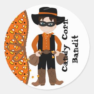 The Candy Corn Bandit Round Sticker