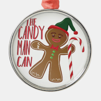 The Candy Man Silver-Colored Round Ornament